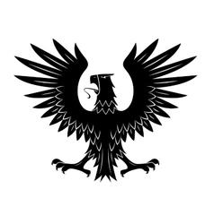 Black heraldic eagle with spread wings symbol vector image vector image