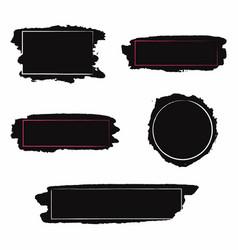 brush strokes set black paint inc brush stroke vector image vector image