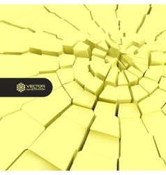 Cracked background 3d vector image