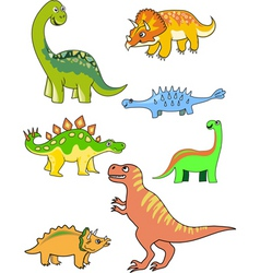 dinosaur collection vector image vector image
