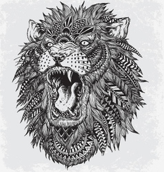 Hand Drawn Abstract Lion vector image vector image