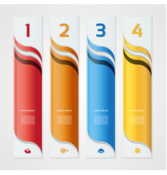 modern wave infographics options banner vector image vector image