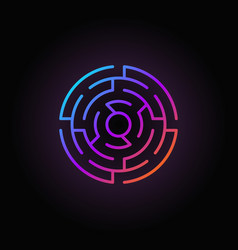 round labyrinth colorful icon vector image