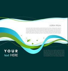 wave abstract colorful background with sample vector image vector image