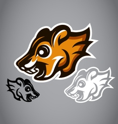 Wild squirrel head brown logo 2902 vector