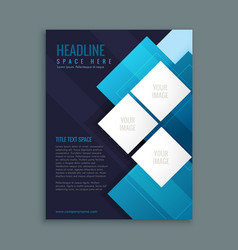 blue business brochure presentation template vector image vector image