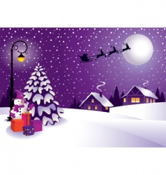 Christmas in the country vector image