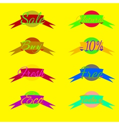 Sale tags label icon Shopping banners set vector image