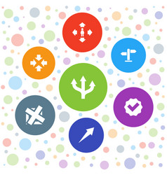 7 right icons vector
