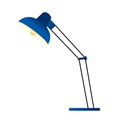 A standard lamp is placed vector