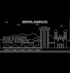 Acapulco silhouette skyline mexico - acapulco vector