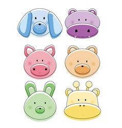 animal stickers vector image