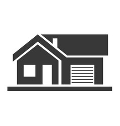 apartment house home and architecture black icon vector image
