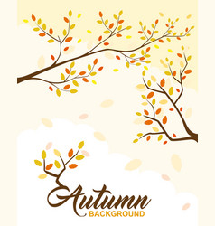 autumn background design element vector image
