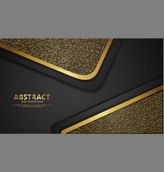 Background with glitters golden effect realistic vector
