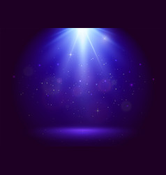 blue award background with top flood light vector image