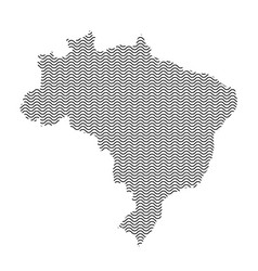 brazil map country abstract silhouette of wavy vector image