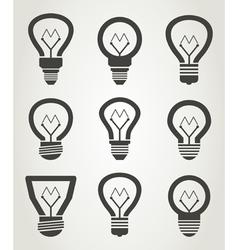 Bulb an icon2 vector