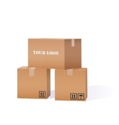 Cardboard Boxes Pile vector image