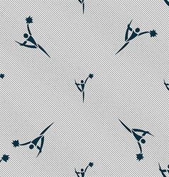 Cheerleader icon sign Seamless pattern with vector
