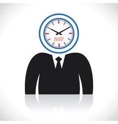 clock men head vector image