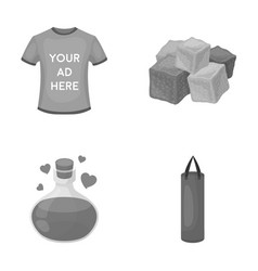 Clothes magic and other monochrome icon in vector