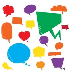 Coloful set of talk and think bubles group vector image