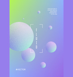 cover fluid with round shapes vector image