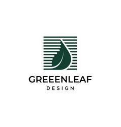 creative leaf logo design vector image