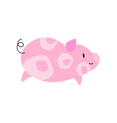cute little pig character 2019 symbol vector image