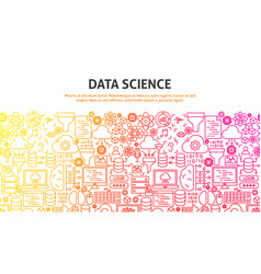 data science concept vector image