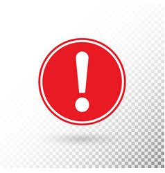 exclamation mark in red circle isolated on vector image