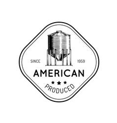 Farm hopper logo with lettering vector