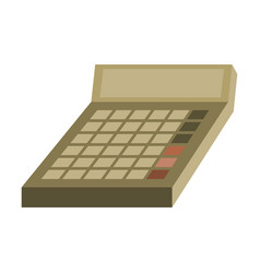 Flat icon on stylish background economy calculator vector