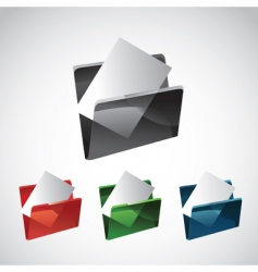 Folder and file vector