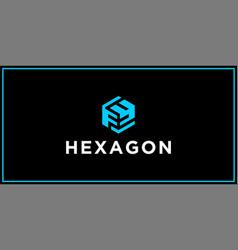 fy hexagon logo design inspiration vector image
