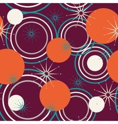 Geometric pattern of circles vector image