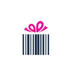 gift barcode logo icon design vector image