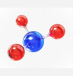 glass transparent molecule model reflective vector image