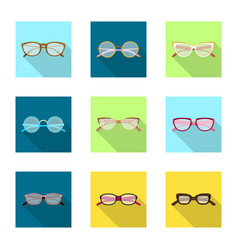 Glasses and frame symbol vector