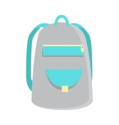 Gray Backpack Icon vector image