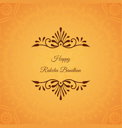 Greeting card for indian holiday raksha bandhan vector