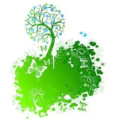 Grunge spring design vector image