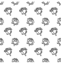 hand drawn romantic doodle pattern-17 vector image