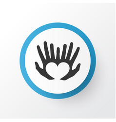 Hands icon symbol premium quality isolated palms vector