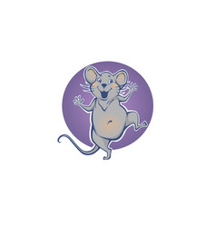 happy rat chinese symbol new year vector image