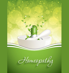 Homeopathy vector