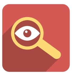 Investigate vision flat rounded square icon vector