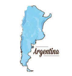 Isolated argentinian map vector