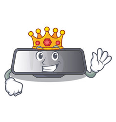 King rear view mirror miniatur shape character vector